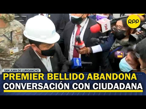 Premier Guido Bellido no responde a la prensa y abandona conversación con ciudadana