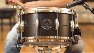Gretsch 7x14 Black Aluminum Limited Edition Snare Drum Quick n' Dirty