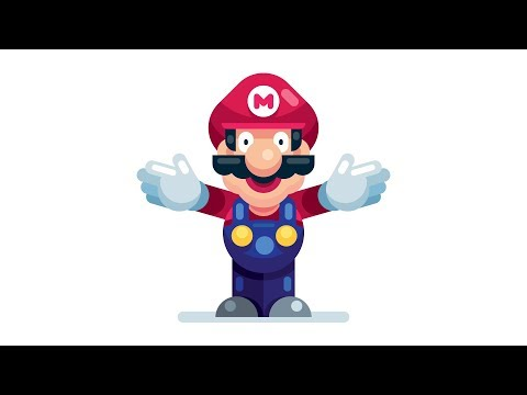 How to Draw Super Mario Bros | EASY | Step by Step Mario from Nintendo | Illustrator Tutorial