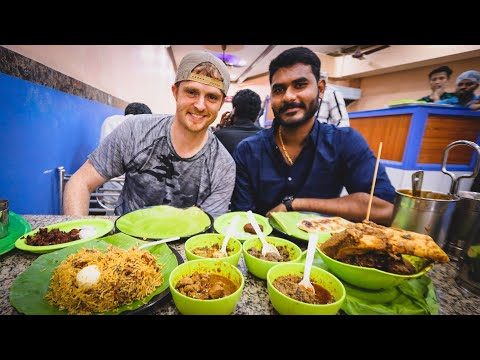 NON-VEG FOOD Tour in Chennai, India: BEEF BIRYANI + BEEF BRAIN + FILTERED COFFEE + CHICKEN DISHES