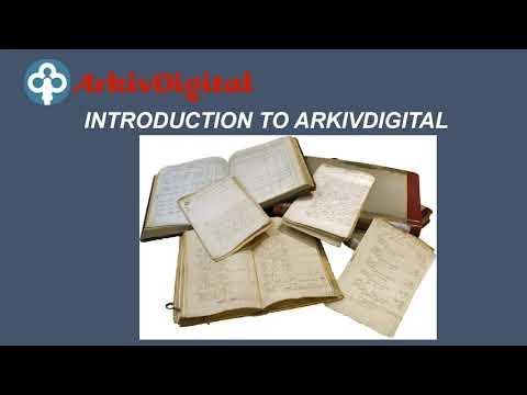 Introduction to ArkivDigital