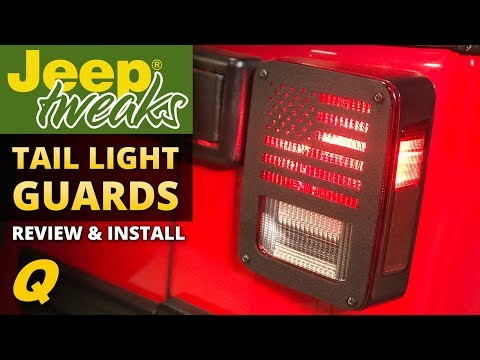 Jeep Tweaks Taillight and Third Brake Light Guards for Jeep CJ & Wrangler