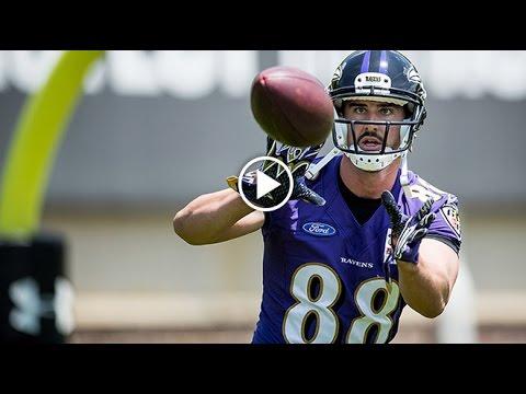 First Look: Dennis Pitta Practice Highlights   Baltimore Ravens