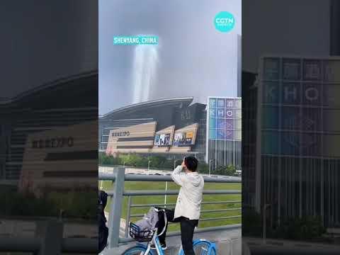 Strange sights filmed in China sky