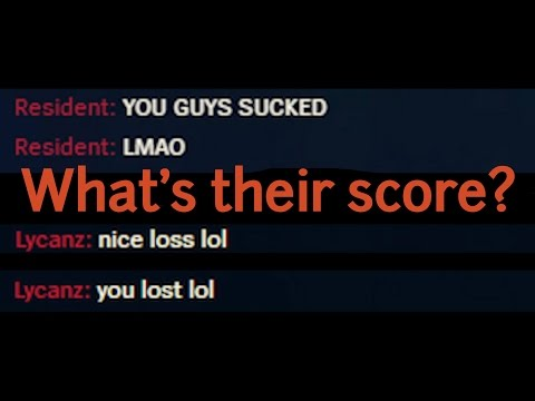 Guess Player's Scores From How They Flame