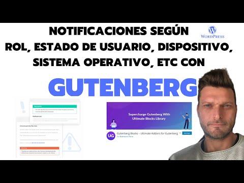 ✅ Notificaciones en contenido según ROL, DISPOSITIVO, ESTADO DE USUARIO, etc | GUTENBERG