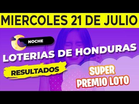 Sorteo 9PM Super Premio Loto de Hoy Miércoles 21 de Julio del 2021 | Ganador