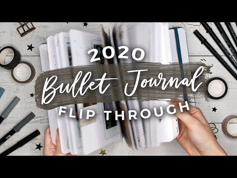 My 2020 Bullet Journal Flip Through | A YEAR IN MY JOURNAL