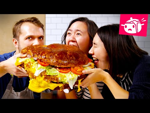 We Tried To Re-Create This Giant 30-Pound Burger ? Eating Your Feed ? Tasty