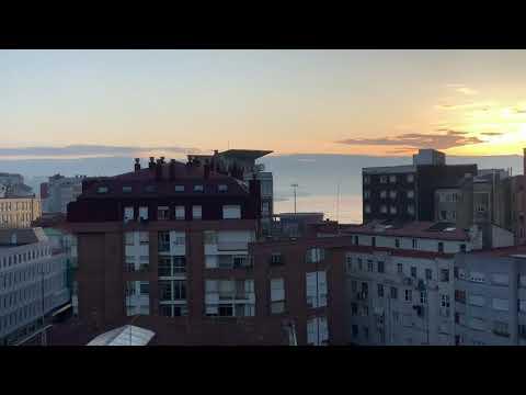 Los primeros rayos de sol desde mi ventana
