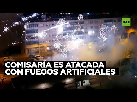 Atacan con fuegos artificiales una comisaría en los suburbios de París