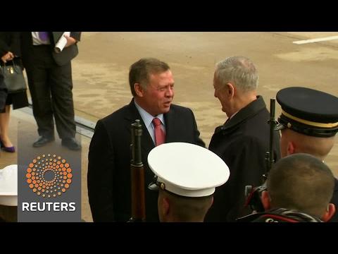 Jordan's Abdullah visits Pentagon amid Trump's refugee ban