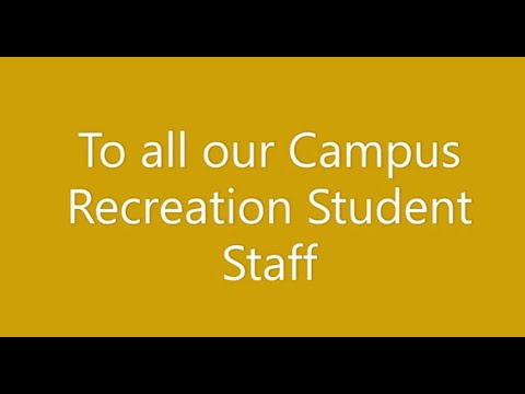 UW-Superior: Campus Recreation Staff Messages to Students