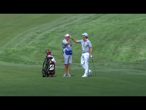 Hudson Swafford?s incredible hole-out for eagle at The Barclays