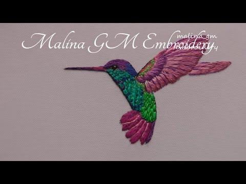 Long and Short Stitches | How to Embroider a Bird