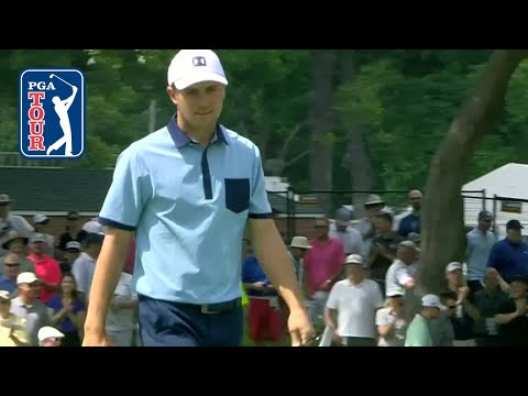 Jordan Spieth drains three putts over 40 feet at Charles Schwab 2019