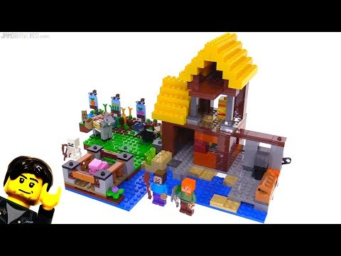 connectYoutube - LEGO Minecraft The Farm Cottage review 🐰 21144
