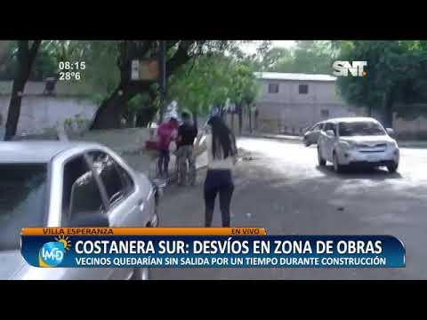 Costanera Sur: Desvíos en zona de obras