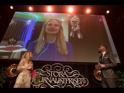 Malin Mendel vinnare av Årets Förnyare - Stora Journalistpriset 2019