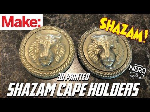 How to Make Shazam Cape Holders Final w/The Broken Nerd