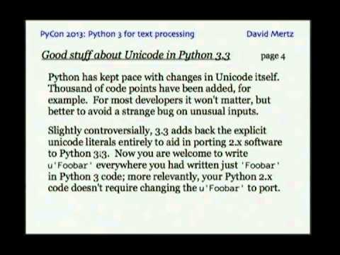 Image from Why you should use Python 3 for text processing