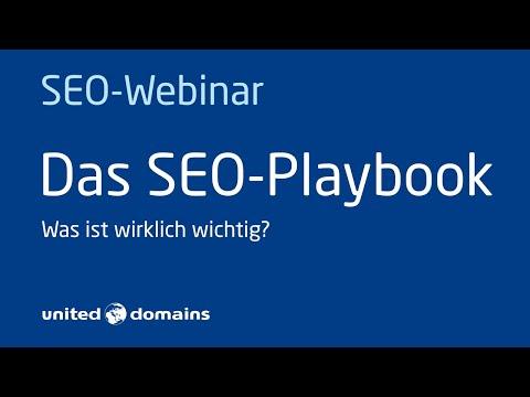 Das SEO-Playbook   Ein Webinar von united-domains mit Markus Hövener