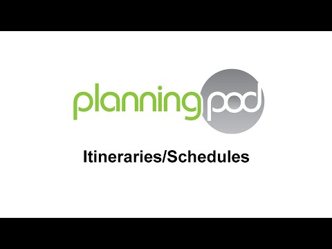 Event Itinerary / Event Schedule Builder - Planning Pod