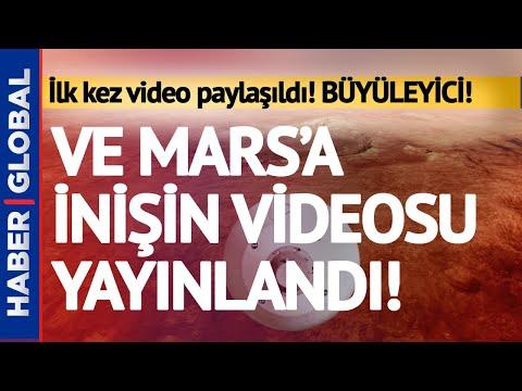 NASA Mars'a İnişin Videosu Yayınladı! İşte Büyüleyici Anlar!