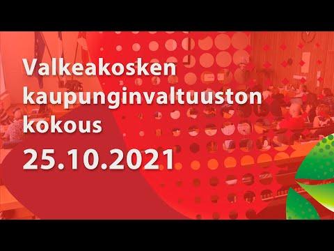 Valkeakosken Kaupunginvaltuuston kokous 18.10.2021 klo 17.00