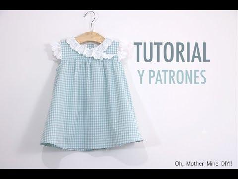 Costura de vestidos de niña (patrones gratis hasta talla 7 años)