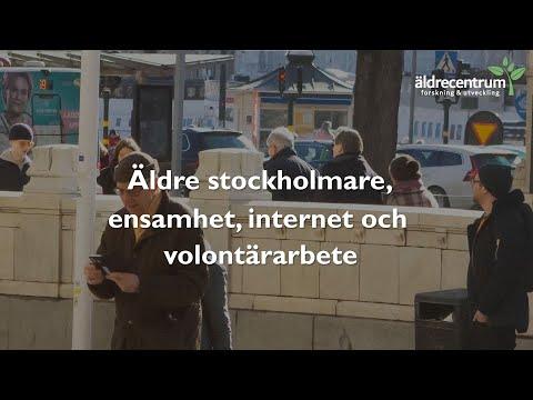Äldre stockholmare, ensamhet, internet, och volontärarbete