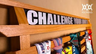 Running Medals Display Rack   Woodworking Project
