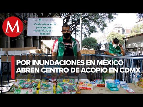 Instalan centro de acopio para ayudar a Tabasco en CdMx