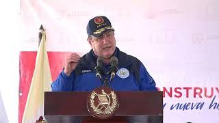 Presidente Alejandro Giammattei inaugura los trabajos de camino rural en Chimaltenango (12/03/2021)