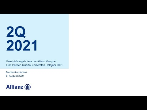Geschäftsergebnisse der Allianz Gruppe zum zweiten Quartal 2021