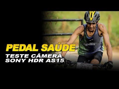 Pedal Saúde teste da câmera sony Hdr as15