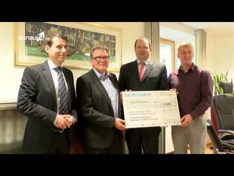 Donau TV: Übergabe Mitarbeiterspende für Flutkatastrophe in Niederbayern