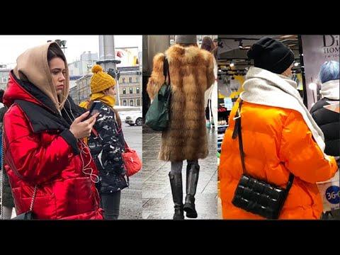СТРИТ СТАЙЛ Как приоделись модницы Петербурга в Снег Слякоть Грязь?  Как утеплились? Зимние аутфиты