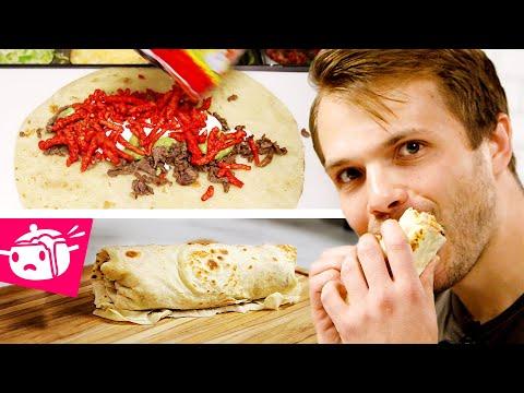 I Tried To Re-Create This Flaming Hot Cheeto Burrito
