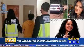Deportada de España llega supuesta autora intelectual del crimen contra empresaria
