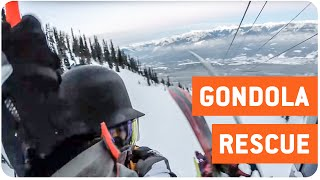 Helicopter Rescues Snowboarders from Gondola | Air Lifted