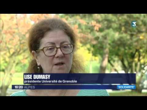 Accueil des migrants sur le campus. Interview Lise Dumasy / France3 / 24 oct 2016