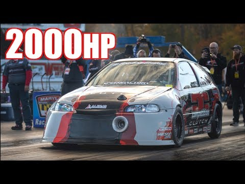 2000HP 2.0L Honda Civic 212MPH on 85PSI - World's Fastest FWD & New AWD B-Series Record