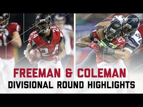 Freeman & Coleman Combine for 204 Yards! | Seahawks vs. Falcons | NFL Divisional Player Highlights