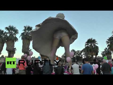 "VIDEO: Goodbye Norma Jean. ""Forever Marilyn"" Leaves The Desert"