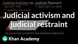 Judicial constraint vs  judicial activism
