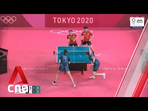 Singapore wins Tokyo Olympics women's table tennis team event against France