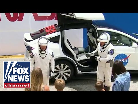 Astronauts, families say goodbyes ahead of historic SpaceX launch