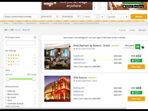 Wego Hotel Search