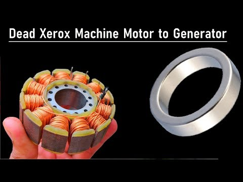 Hand Cranked Electric Dynamo Generator from 24V 5 Amps Brushless DC Motor (BLDC from Xerox Machine)